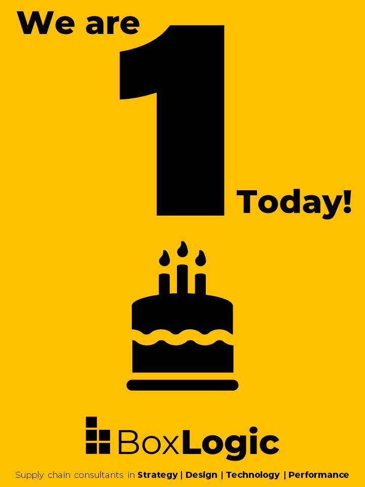 1 year old, birthday BoxLogic